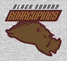 Black Quarry Boarcupines One Piece - Short Sleeve