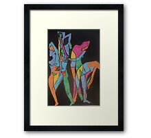 Raw Yoga by Tristana Fitzgerald Framed Print