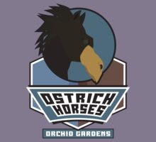 Orchid Gardens Ostrich Horses Kids Tee