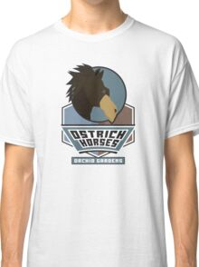 Orchid Gardens Ostrich Horses Classic T-Shirt