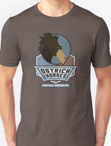 Orchid Gardens Ostrich Horses T-Shirt