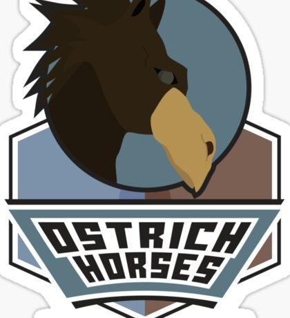 Orchid Gardens Ostrich Horses Sticker