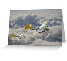 B17 - 487th Bomb Group Greeting Card