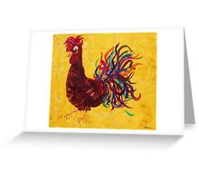 Decolores Rooster Greeting Card