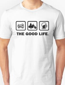 Bacon Motorbike Riding Beer The Good Life T-Shirt