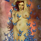 Blue Butterfly by strawberries
