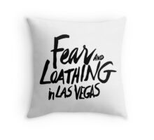 Fear and Loathing in Las Vegas - BLACK  Throw Pillow