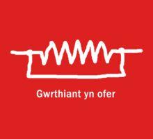Gwrthiant yn ofer - Welsh T Shirt by BlueShift