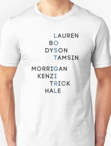 Character Names - Lost Girl Unisex T-Shirt