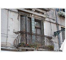 Venetian Balcony Poster