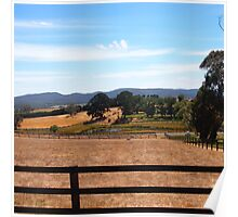 Along the Woodend/Lancefield Road, Rochford Vic Aust Poster