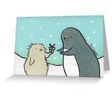 Penguin Christmas - Thanks for the Fish Greeting Card
