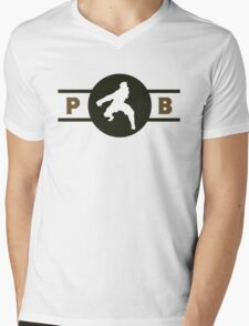 Badgermoles Pro-Bending League Gear Mens V-Neck T-Shirt