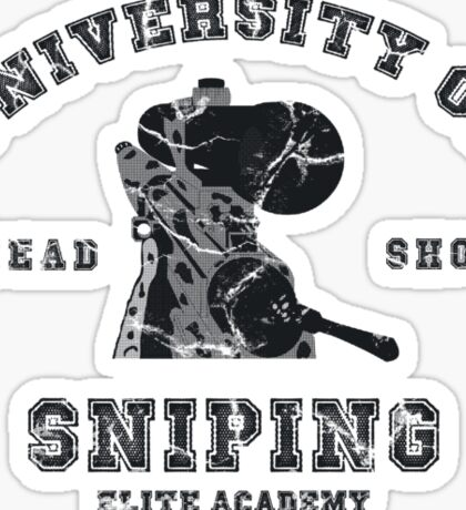 College of sniping Sticker