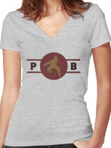 Boarcupines Pro-Bending League Gear Women's Fitted V-Neck T-Shirt