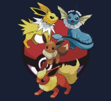 Eevee evolution trio by Warlock85