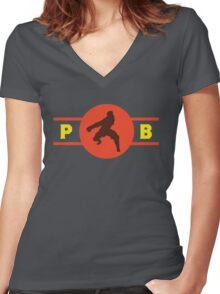 Fire Ferrets Pro-Bending League Gear Women's Fitted V-Neck T-Shirt