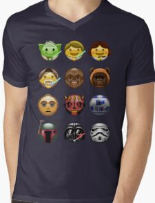 Emoji Wars Mens V-Neck T-Shirt