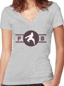 Wolfbats Pro-Bending League Gear Women's Fitted V-Neck T-Shirt