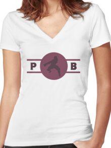 Wolfbats Pro-Bending League Gear (Alternate) Women's Fitted V-Neck T-Shirt