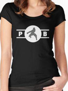 Zebra Frogs Pro-Bending League Gear Women's Fitted Scoop T-Shirt