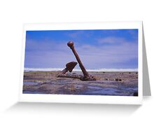 Old Boat anchor, Wreck Beach, Great Ocean road Greeting Card