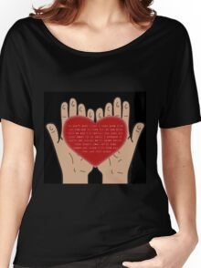 Heart In Your Hands (Nathan Sykes, Over And Over Again) Women's Relaxed Fit T-Shirt