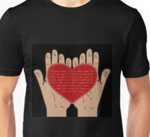 Heart In Your Hands (Nathan Sykes, Over And Over Again) Unisex T-Shirt
