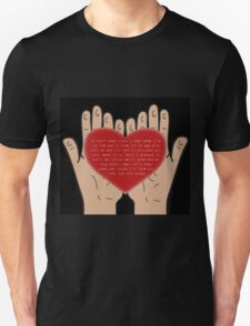 Heart In Your Hands (Nathan Sykes, Over And Over Again) T-Shirt