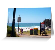 Suburban Beach Colours Of Western Australia Greeting Card