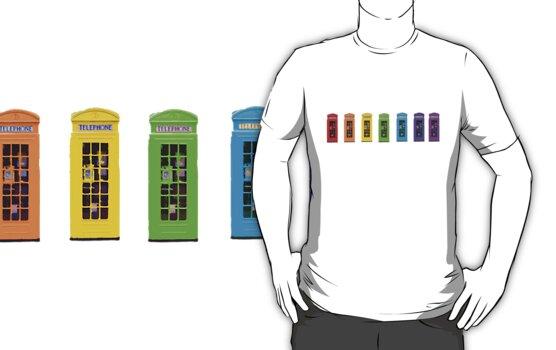 Rainbow Phone boxes  by Zozzy-zebra