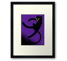 NINJA CAT 3 Framed Print
