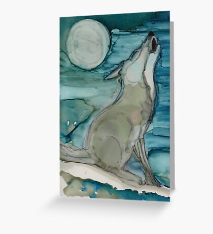 Coyote Moon Greeting Card