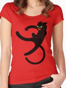 NINJA CAT 3 Women's Fitted Scoop T-Shirt