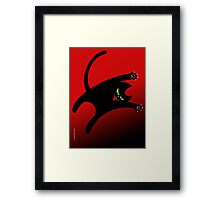 NINJA CAT 1 Framed Print