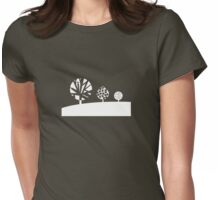Three White Trees - Graphic T Shirt Womens Fitted T-Shirt