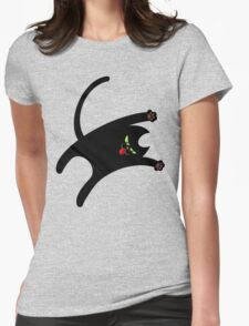 NINJA CAT 1 Womens Fitted T-Shirt