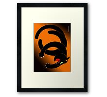NINJA CAT 4 Framed Print