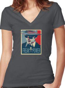 HST- Freak Power Women's Fitted V-Neck T-Shirt