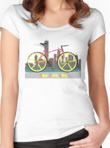 Love New York, Love to Cycle Women's Fitted Scoop T-Shirt