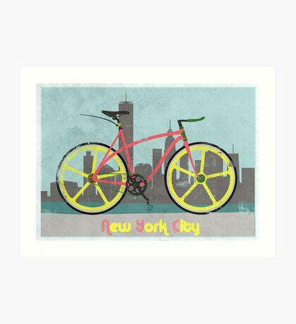 Love New York, Love to Cycle Art Print