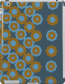 Floral pattern - retro style by CatchyLittleArt
