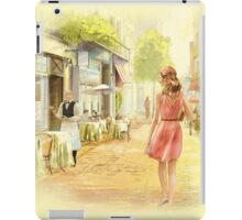 The bright Morning. A cafe in Paris. iPad Case/Skin