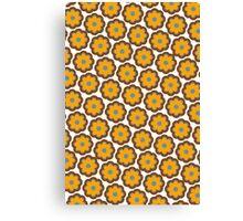 Retro colors floral pattern Canvas Print