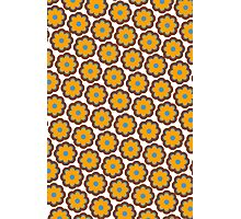 Retro colors floral pattern Photographic Print