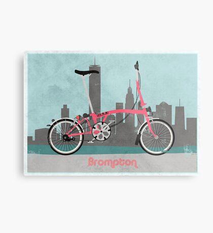 Brompton City Bike Metal Print
