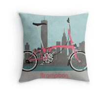 Brompton City Bike Throw Pillow