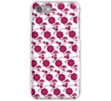 Flowers on snow (retro pattern)  iPhone Case/Skin