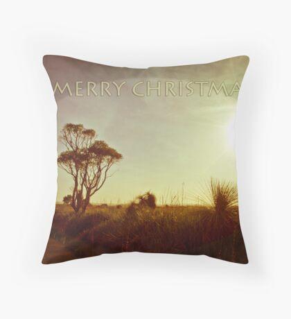 Rural Xmas Card Throw Pillow