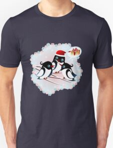 Winter Birds Christmas Wish - Cute Tee T-Shirt